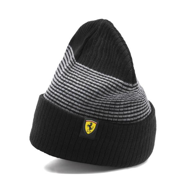 Gorro de lana Scuderia Ferrari para fanáticos, Puma Black, grande