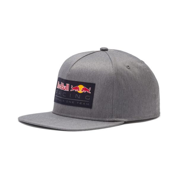 Red Bull Racing Lifestyle Flat Brim Cap, Smoked Pearl, large