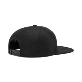 Thumbnail 2 of Suede Flat Brim Cap, Puma Black, medium