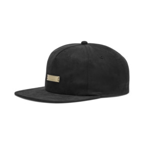 Thumbnail 1 of Suede Flat Brim Cap, Puma Black, medium