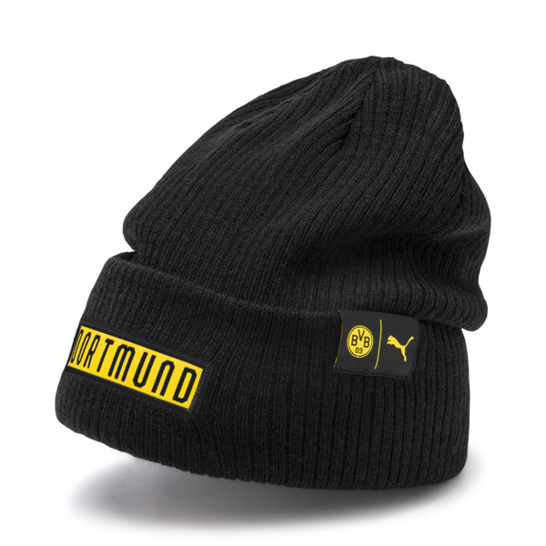 BVB Football Culture Bronx Beanie, Puma Black-Cyber Yellow, large