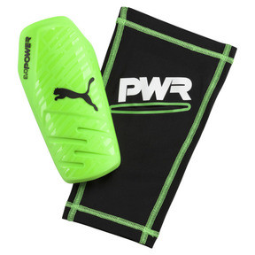 Thumbnail 1 of evoPOWER 1.3 Slip Shin Guards, Green Gecko-Black-White, medium