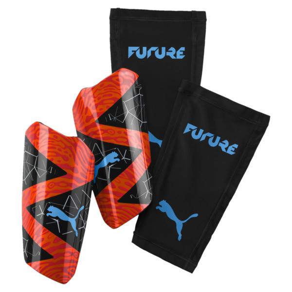 FUTURE 19.2 Shin Guards, Red Blast-Black-Bleu Azur, large