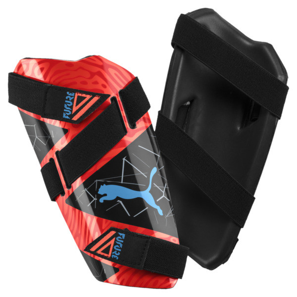FUTURE 19.5 Shin Guards, Red Blast-Black-Bleu Azur, large