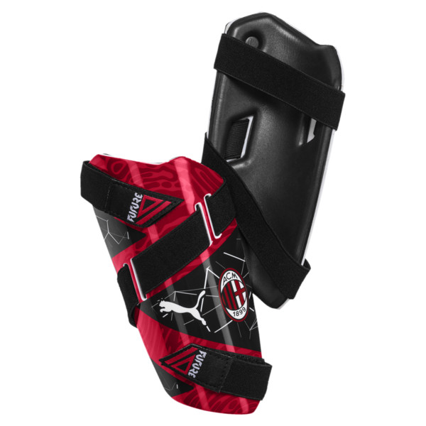 AC Milan FUTURE 5 Shin Guards, Puma Black-Tango Red, large