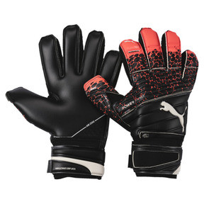 Thumbnail 1 of evoPOWER Protect 1.3 Soccer Goalkeeper Gloves, Fiery Coral-Black-White, medium