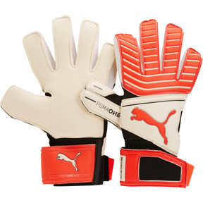 Thumbnail 1 of ONE Grip 17.2 Soccer Goalie's Gloves, White-Red Blast-Black-Silver, medium