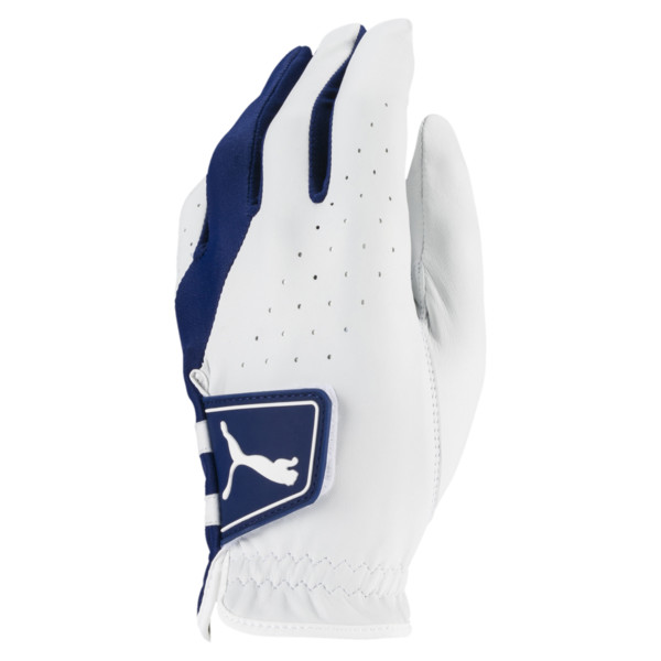 Golf Men's Pro Formation Left Hand Glove, Bright White-Monaco Blue, large