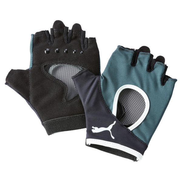 Women's Training Gym Gloves, Ponderosa Pine-FAIR AQUA, large