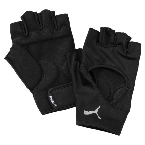 Essential Training Gloves, Puma Black-Gray Violet, large
