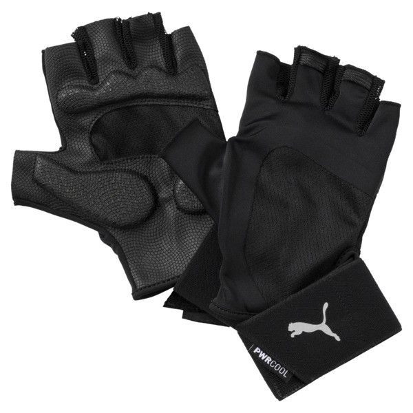 Training Men's Essential Premium Gloves, Puma Black-Gray Violet, large