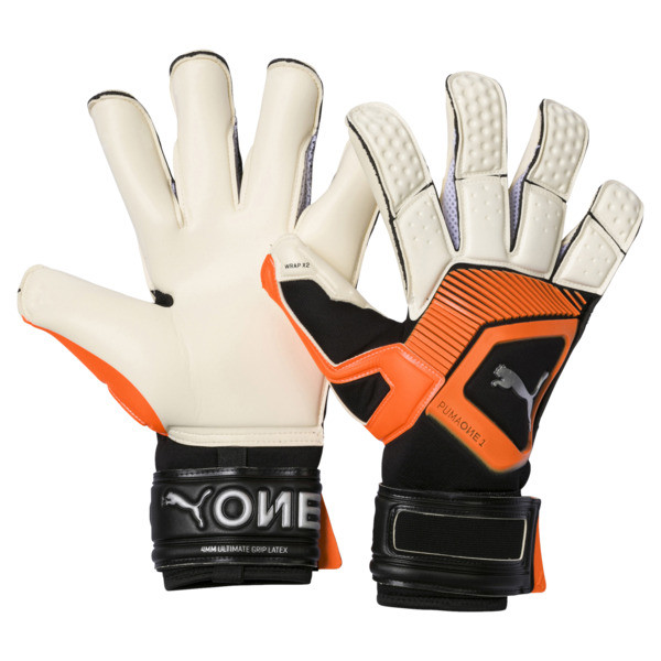 PUMA ONE Grip 1 Hybrid Pro Goalkeeper Gloves, 01, large