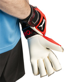 Thumbnail 3 of PUMA ONE Grip 1 Hybrid Pro Goalkeeper Gloves, Black-Bleu Azur-Red Blast, medium