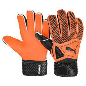 Thumbnail 1 of FUTURE Grip 2.4 Kids' Goalkeeper Gloves, Shocking Orange-Black-White, medium