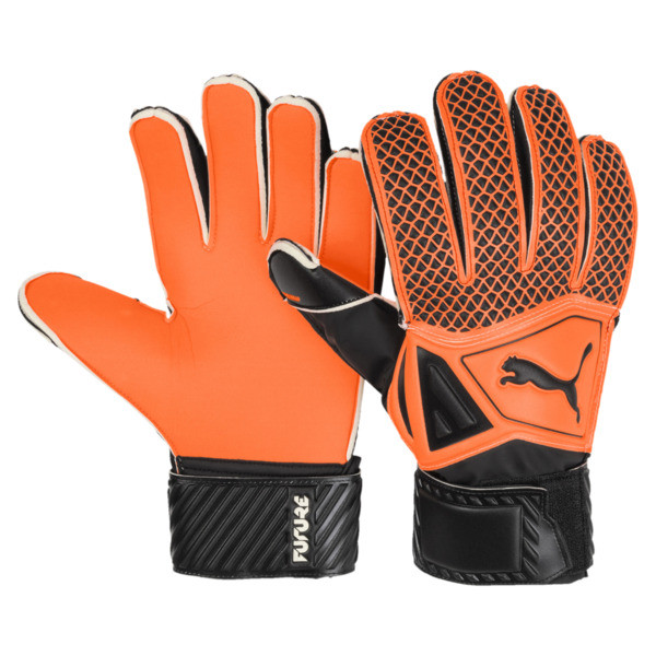 FUTURE Grip 2.4 Kids' Goalkeeper Gloves, Shocking Orange-Black-White, large