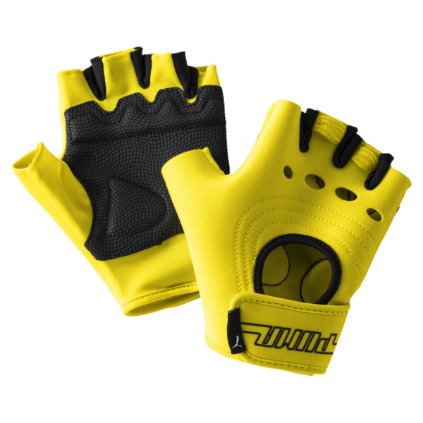 Women's Cosmic Gym Gloves, Blazing Yellow, large