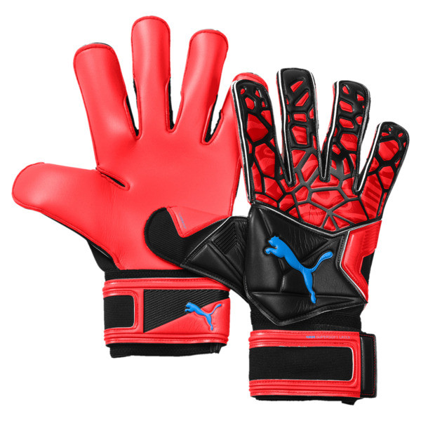 FUTURE Grip 19.2 Football Goalkeeper Gloves, Red Blast-Puma Black-White, large
