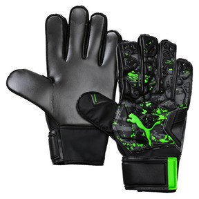 Thumbnail 1 of FUTURE Grip 19.4 Football Goalkeeper Gloves, Black-Gray-Green Gecko, medium
