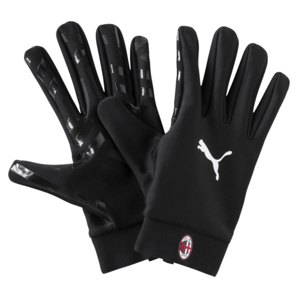 AC Milan Field Player's Gloves, Puma Black, large