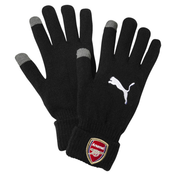 AFC Men's Knitted Gloves, Puma Black, large