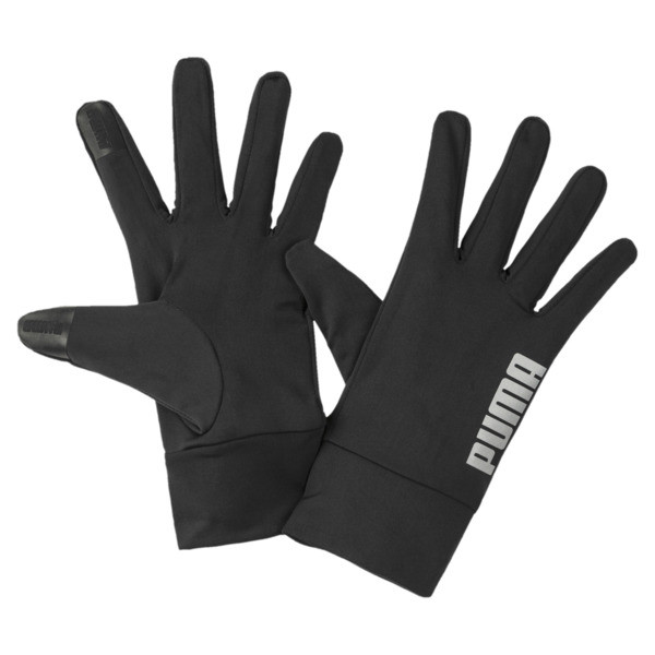 PR Performance Running Fingered Gloves, Puma Black, large