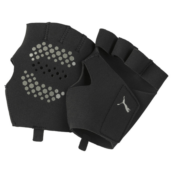 Essential Premium Grip Cut Fingered Training Gloves, Puma Black, large