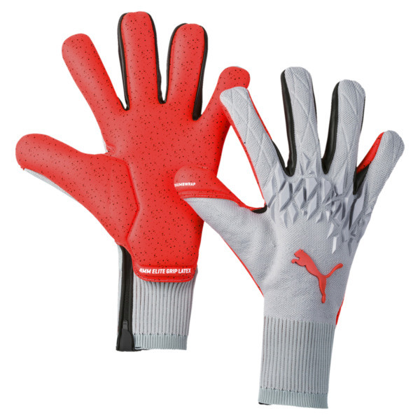 FUTURE Grip 19.1 Football Goalkeeper Gloves, Grey Dawn-Nrgy Red, large