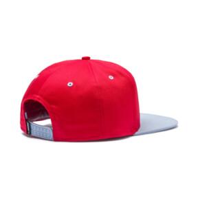 Thumbnail 2 of LS ColorBlock Hat, High Risk Red-Peacoat, medium