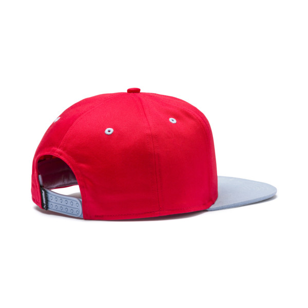LS ColorBlock Hat, High Risk Red-Peacoat, large