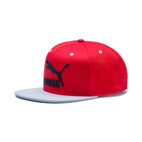 Thumbnail 1 of LS ColorBlock Hat, High Risk Red-Peacoat, medium