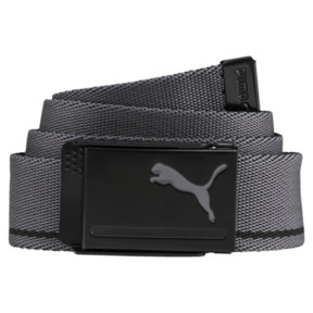 Thumbnail 2 of Reversible Web Golf Belt, Puma Black-Quiet Shade, medium