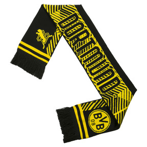 Thumbnail 2 of BVB Fan Scarf, Puma Black-Cyber Yellow, medium