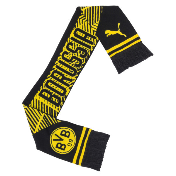 BVB Fan Scarf, Puma Black-Cyber Yellow, large