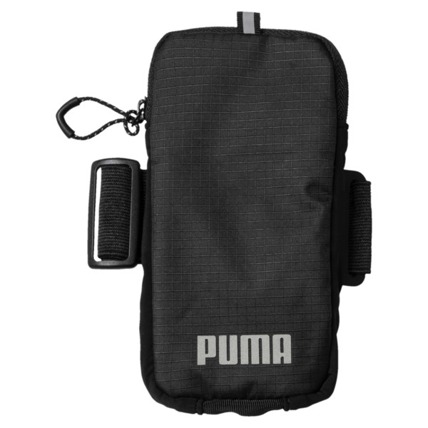 Running Arm Pocket, Puma Black-Puma Silver, large