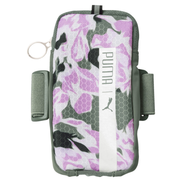 Women´s Running Arm Pocket, Laurel Wreath-Orchid-AOP, large