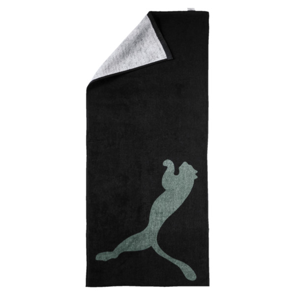 Training Essential Towel, Puma Black-Laurel Wreath, large