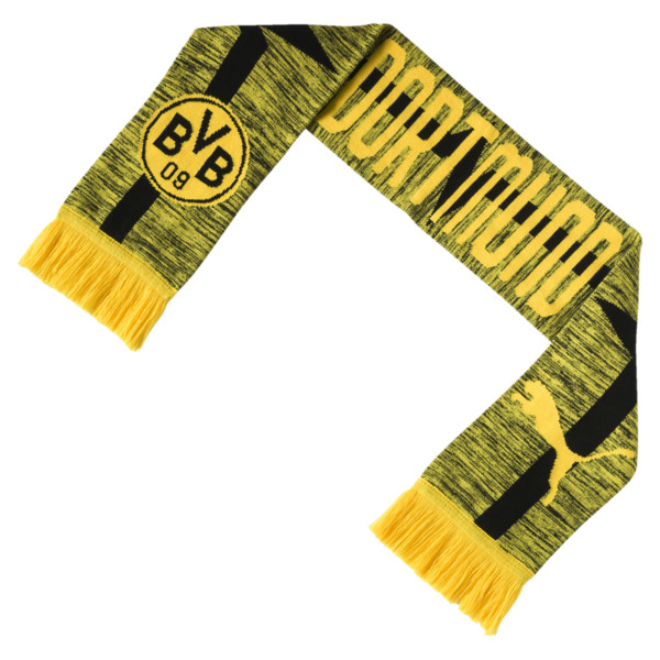 BVB Fan Scarf, Cyber Yellow-Puma Black, large