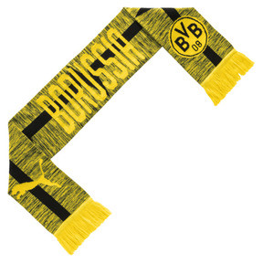 Thumbnail 1 of BVB Fan Scarf, Cyber Yellow-Puma Black, medium