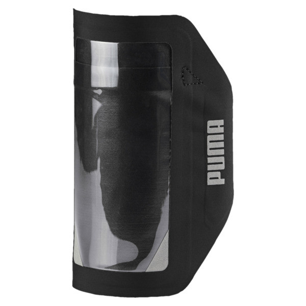 Running Phone Arm Pocket, Puma Black, large