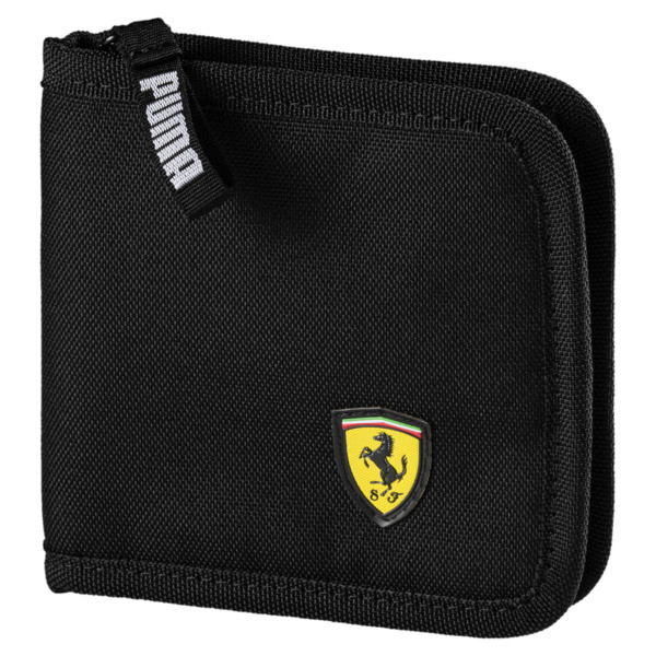 Billetera Scuderia Ferrari para fanáticos, Puma Black, grande