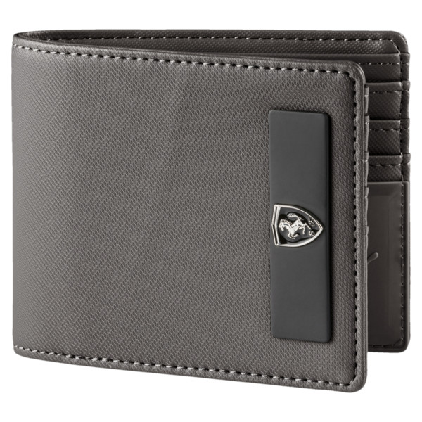 Ferrari Lifestyle Wallet, Charcoal Gray, large