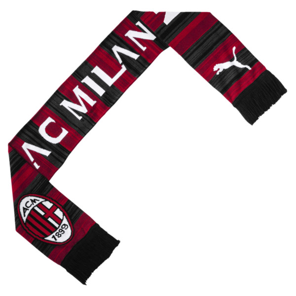 AC Milan Fan Schal, Tango Red-Puma Black, large