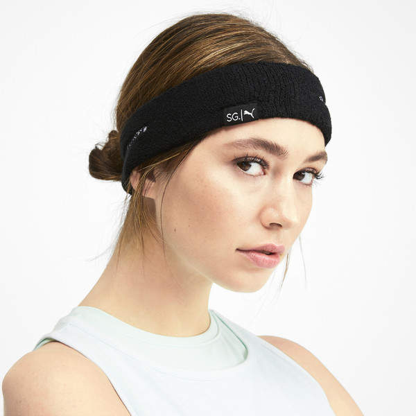 SG x PUMA Headband, Puma Black-Puma White, large
