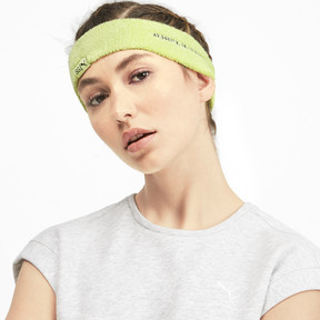 Thumbnail 2 of SG x PUMA Headband, SOFT FLUO YELLOW-Puma Black, medium