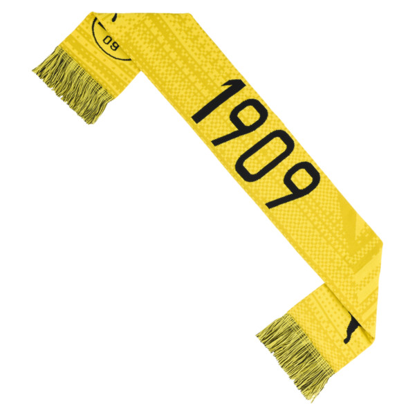 BVB Football Culture Scarf, Cyber Yellow-Puma Black, large