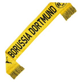 Thumbnail 1 of BVB Football Culture Scarf, Cyber Yellow-Puma Black, medium