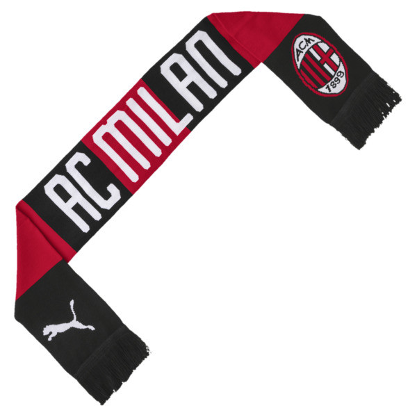 AC Milan Fan Scarf, Tango Red -Puma Black, large