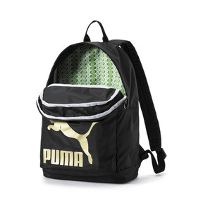 Thumbnail 3 of Originals Backpack, Puma Black-Gold, medium