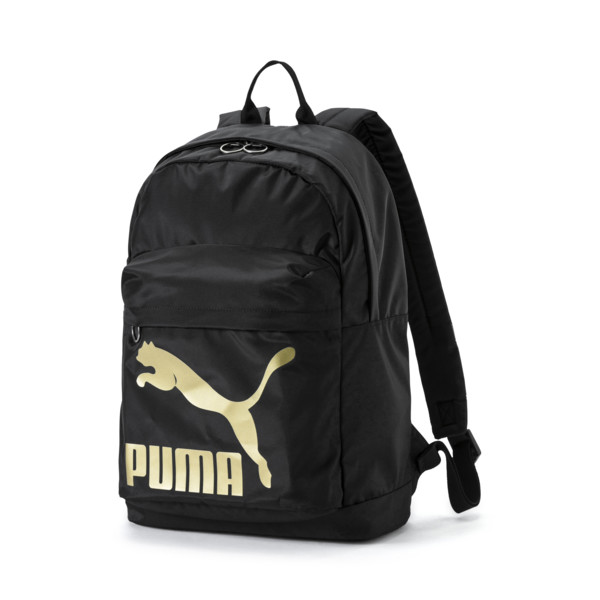 Originals Backpack, Puma Black-Gold, large