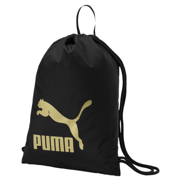 Originals Gym Bag, Puma Black-Gold, large